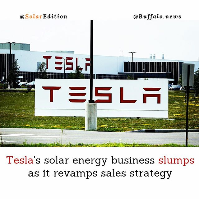 Tesla's solar energy business slumps as it revamps sales strategy