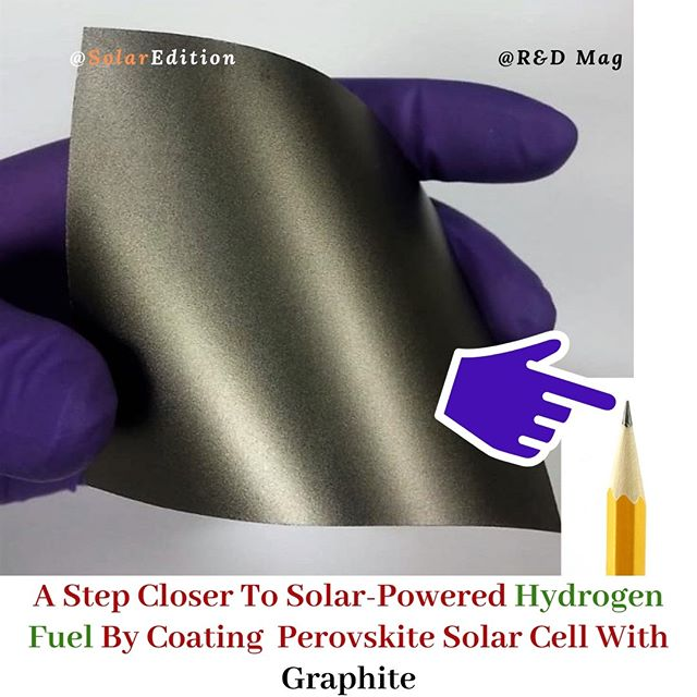 A Step Closer to Solar-Powered Hydrogen Fuel By Coating PSC With Graphite