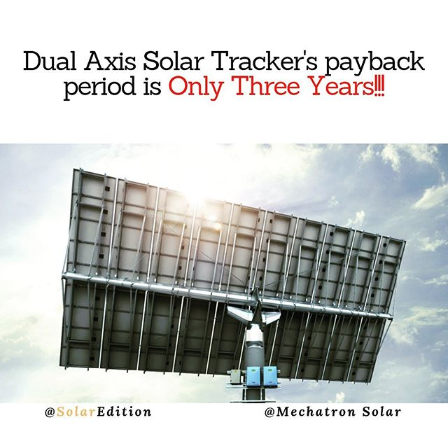 Dual Axis Solar Tracker's payback period is Only Three Years!!!