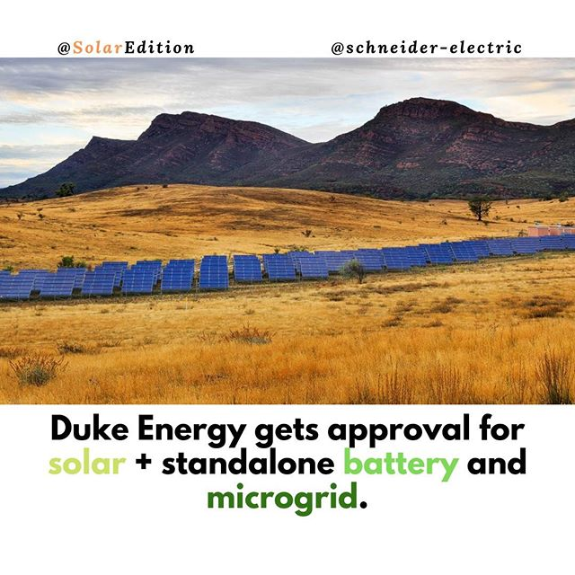 Duke Energy Gets Approval for Solar+Standalone Battery and Microgrid