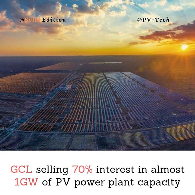 GCL selling 70% interest in almost 1GW of PV power plant capacity