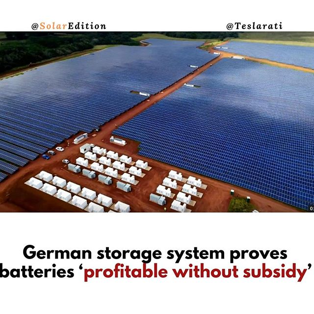 German storage system proves batteries 'profitable without subsidy'