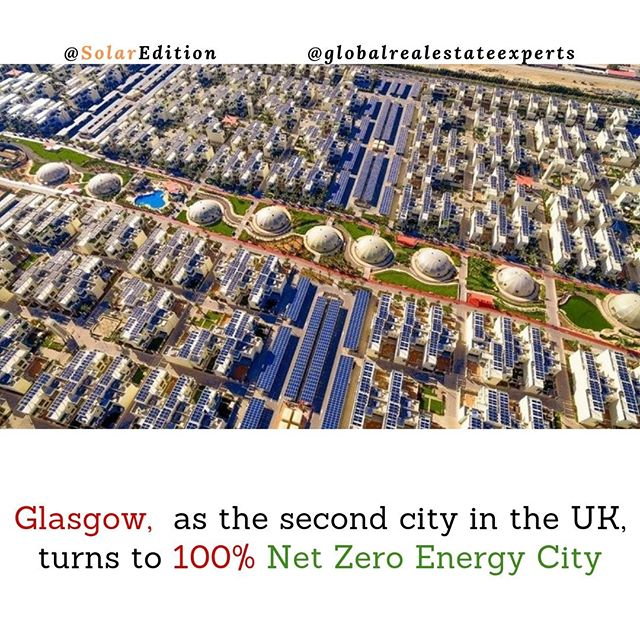 Glasgow,  as the second city in the UK, turns to 100% Net Zero Energy City