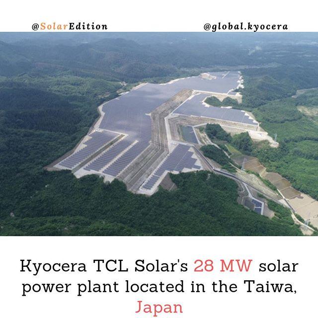 Kyocera TCL Solar's 28 MW solar power plant located in the Taiwa, Japan