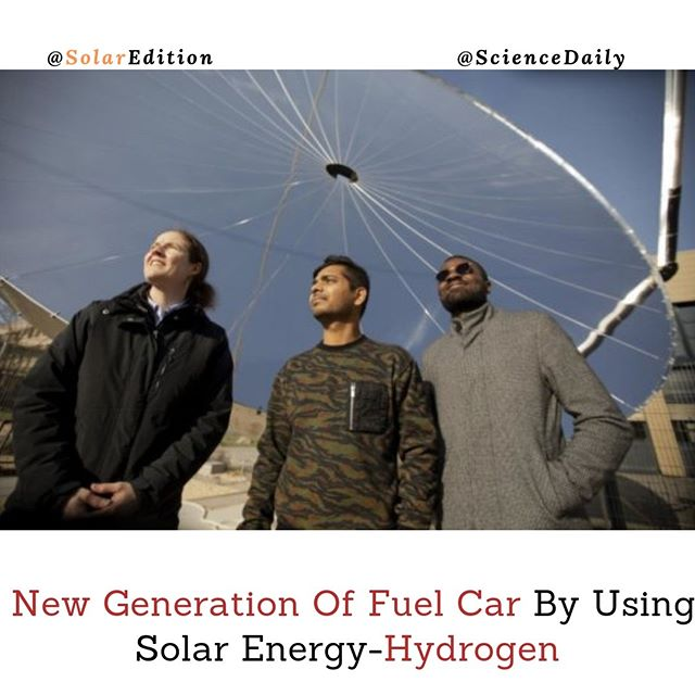 New Generation Of Fuel Car By Using Solar Energy-Hydrogen