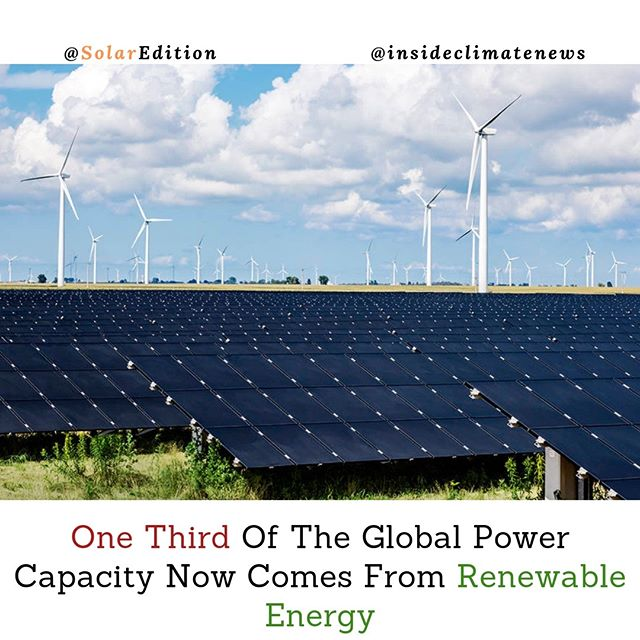 One-Third Of Global Power Capacity Now Comes From Renewable Energy
