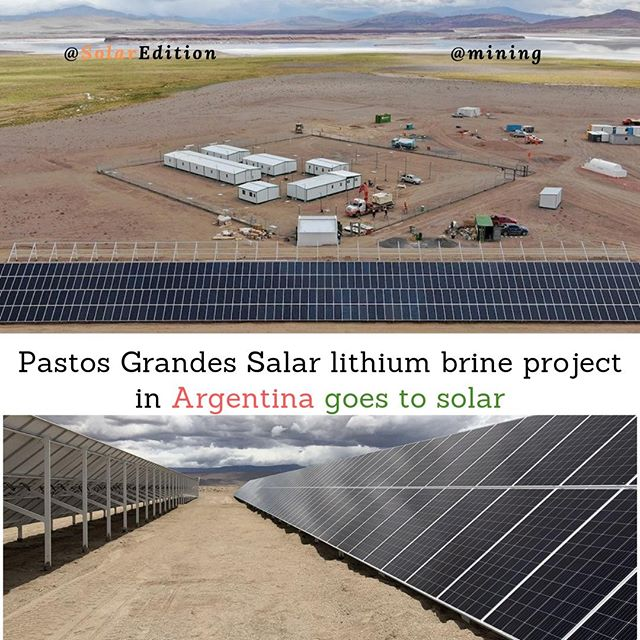 Pastos Grandes Salar lithium brine project in Argentina goes to solar