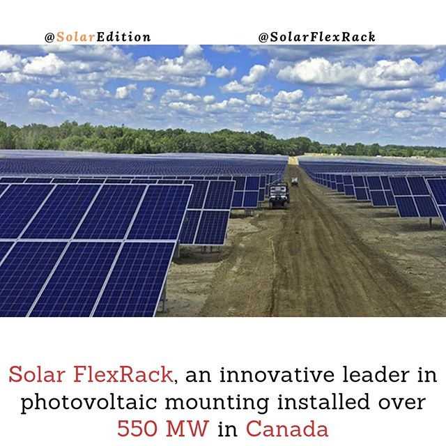 Solar FlexRack, an innovative leader in photovoltaic mounting installed over 550 MW in Canada