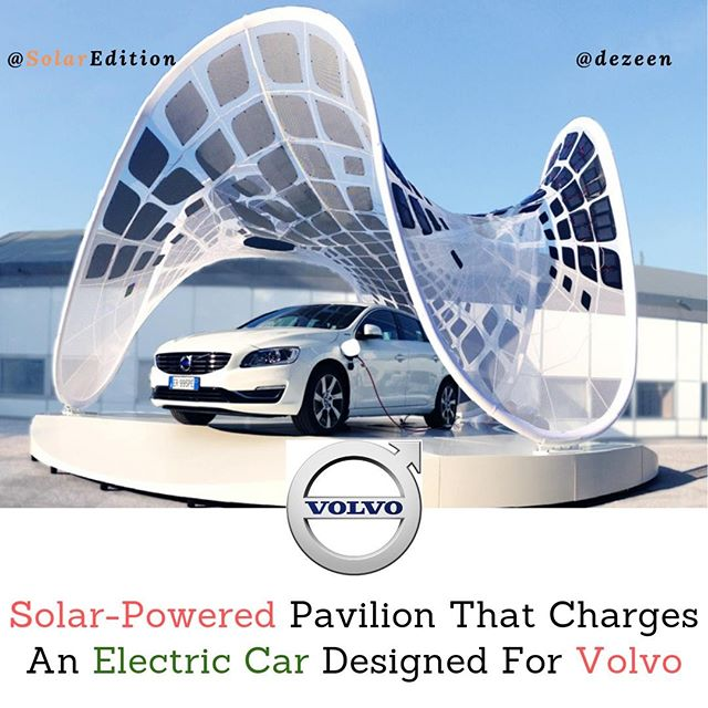 Solar-Powered Pavilion That Charges An Electric Car Designed For Volvo