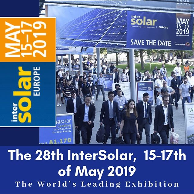 The 28th Intersolar, 15-17th of May 2019, The World Leading Exhibition