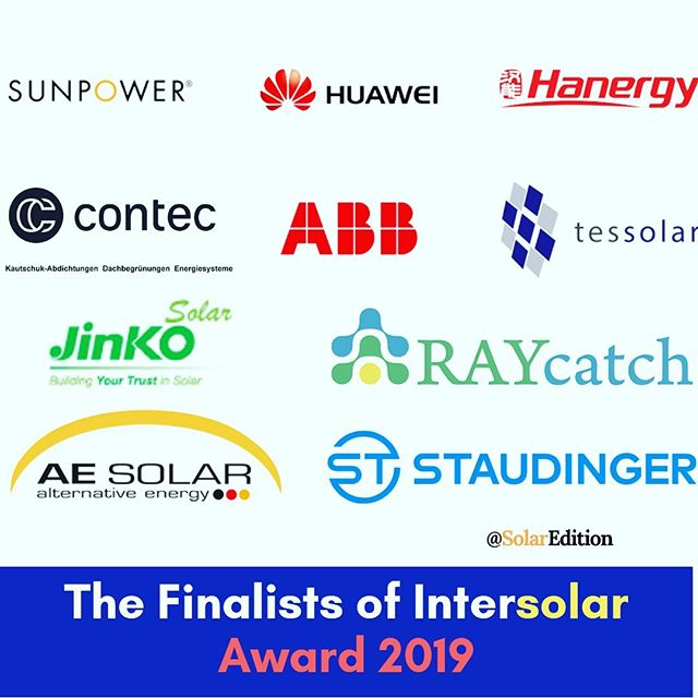 The Finalists of Intersolar Awards 2019