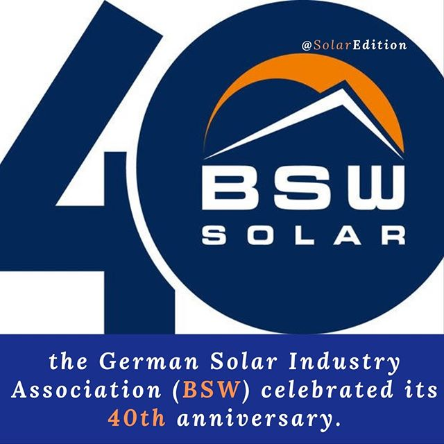 The German Solar Industry Association (BSW) celebrated its 40th anniversary