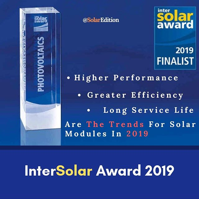 The InterSolar Award 2019
