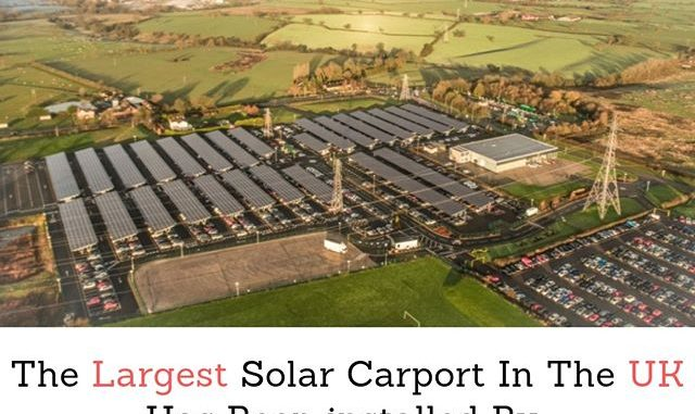 largest solar carport in the UK by Bentley Motors