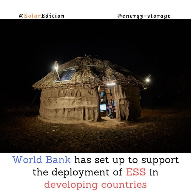 World Bank has set up to support the deployment of ESS in developing countries