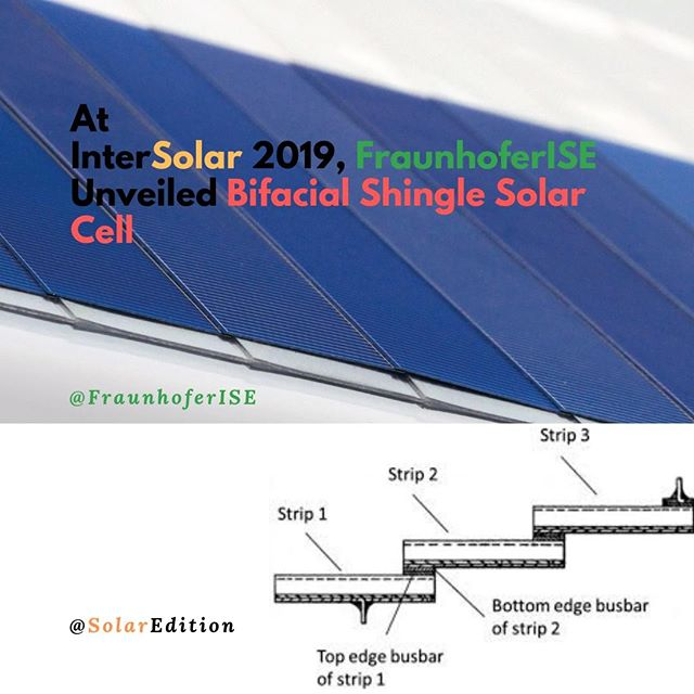 At InterSolar 2019, Fraunhofer ISE Unveiled Bifacial Shingle Solar Cell