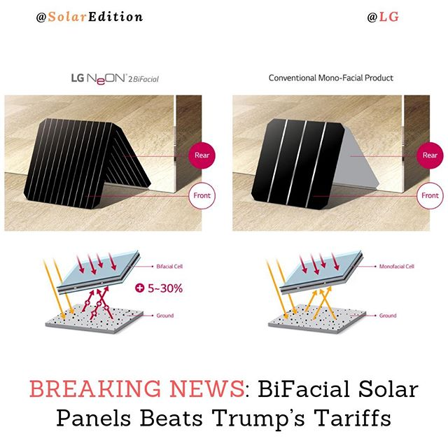 Trump Taxes Solar: BREAKING NEWS: BiFacial Solar Panels Beats Trump's Tariffs