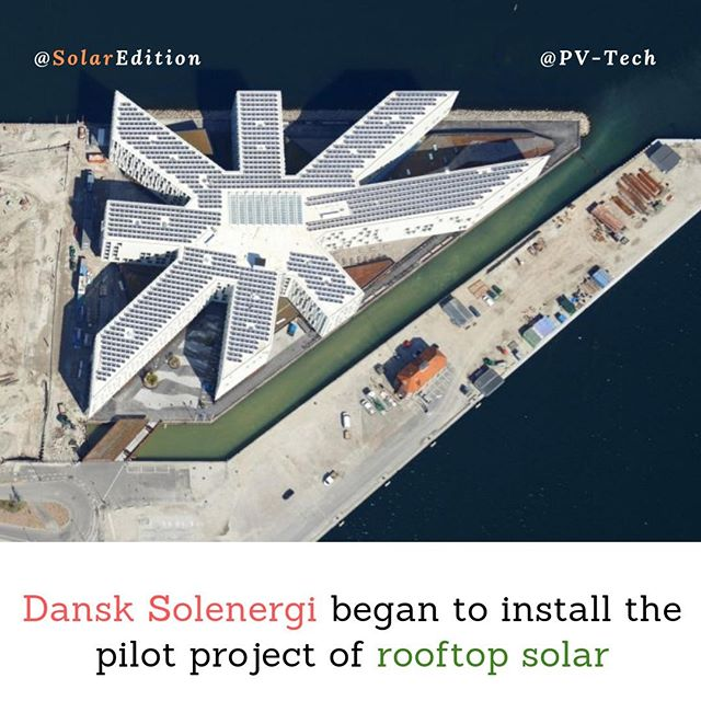 Dansk Solenergi began to install the pilot project of rooftop solar