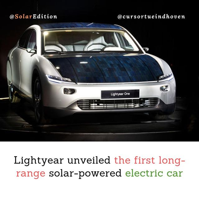 Lightyear unveiled the first long-range solar-powered electric car