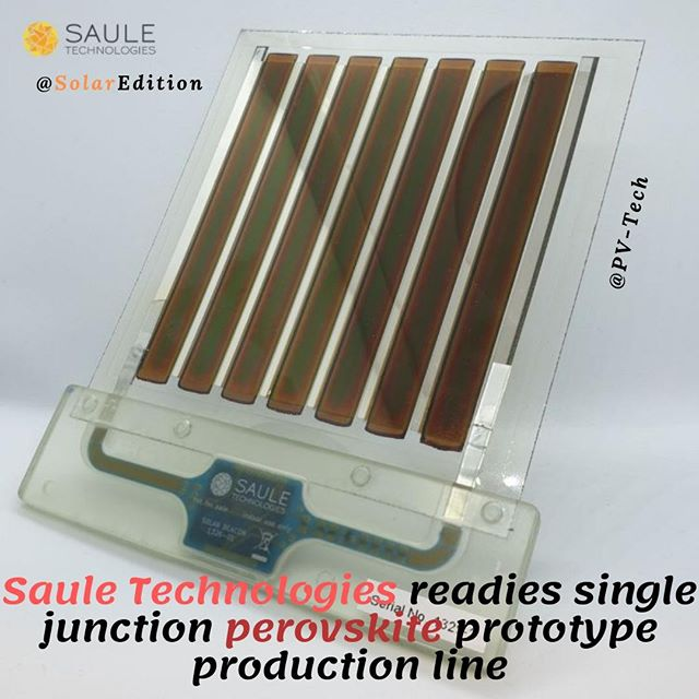 Saule Technologies readies single junction perovskite prototype production line