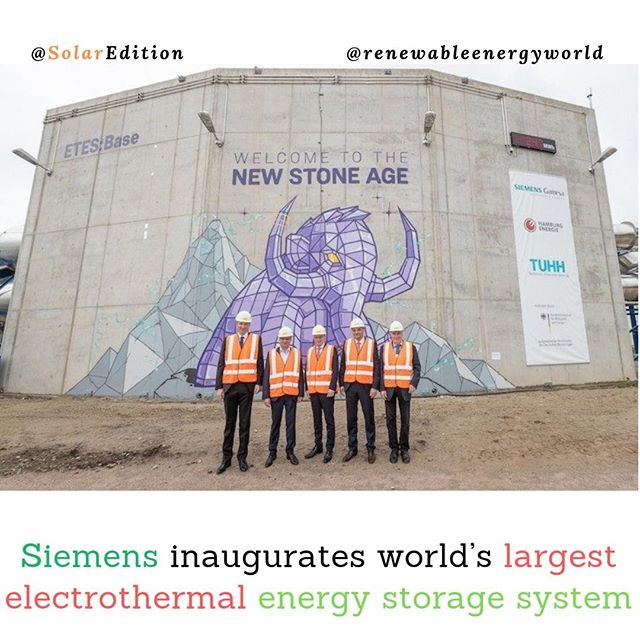 Siemens inaugurates world's largest electrothermal energy storage system