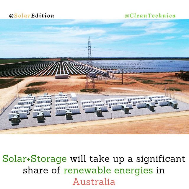 Solar+Storage will take up a significant share of a major renewable complex in Australia