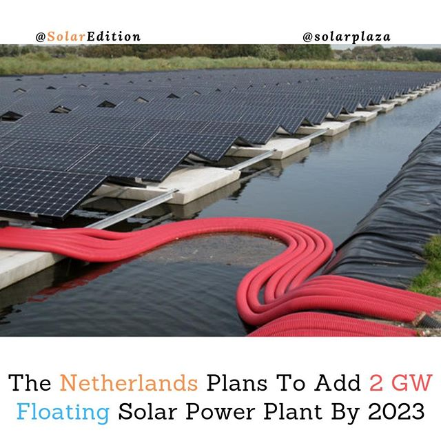 The Netherlands Plans To Add 2 GW Floating Solar Power Plant By 2023