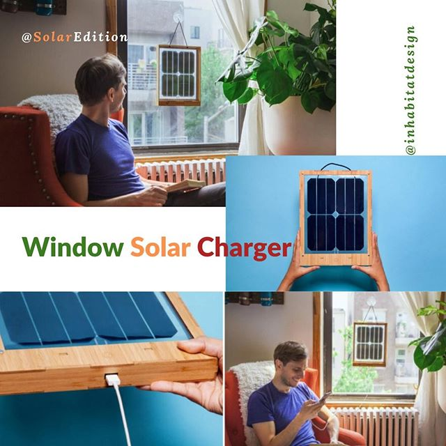This Innovative window solar charger has designed for apartment dwellers