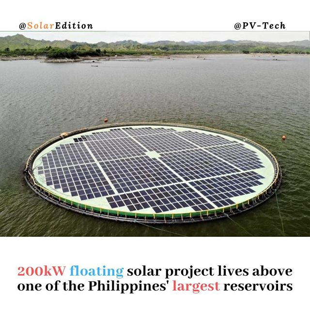 200kW floating solar project lives above one of the Philippines' largest reservoirs