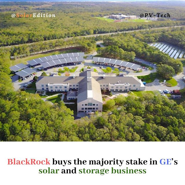 BlackRock buys the majority stake in GE's solar and storage business