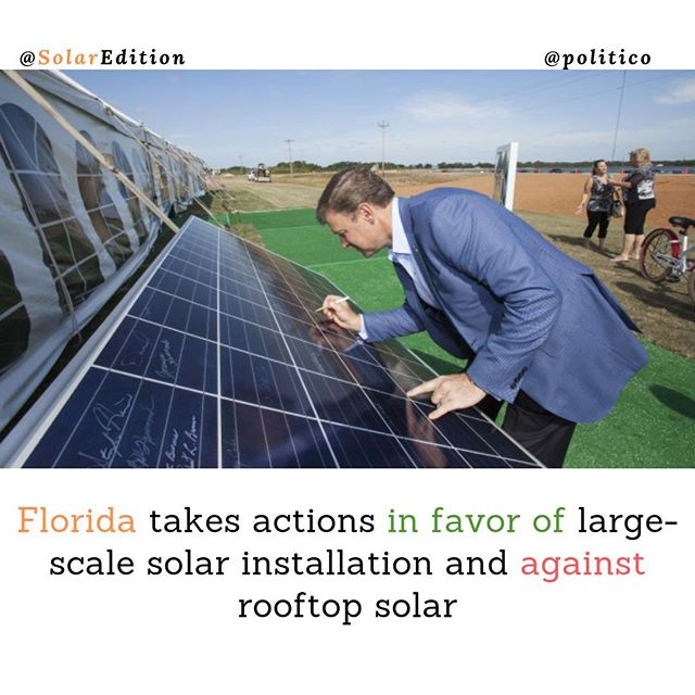 Florida takes actions in favor of large-scale solar installation and against rooftop solar