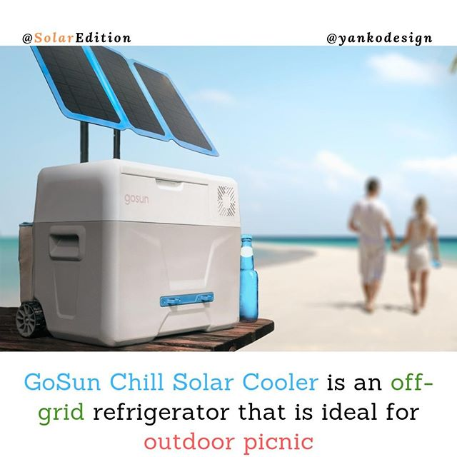 GoSun Chill Solar Cooler is an off-grid refrigerator that is ideal for outdoor picnic