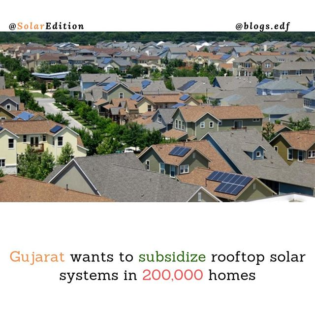 Gujarat wants to subsidize rooftop solar systems in 200,000 homes