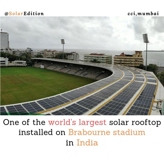 One of the world's largest solar rooftop installed on Brabourne stadium