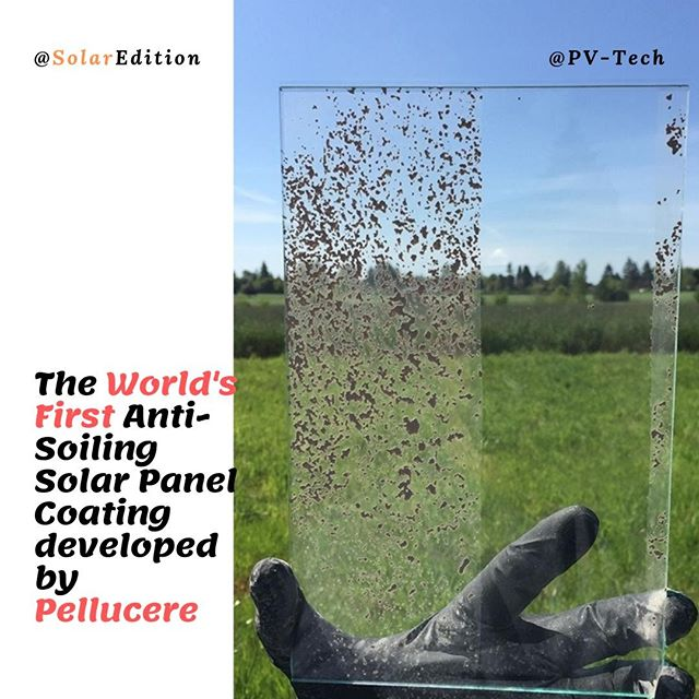 The World's First Anti-Soiling Solar Panel Coating developed by Pellucere