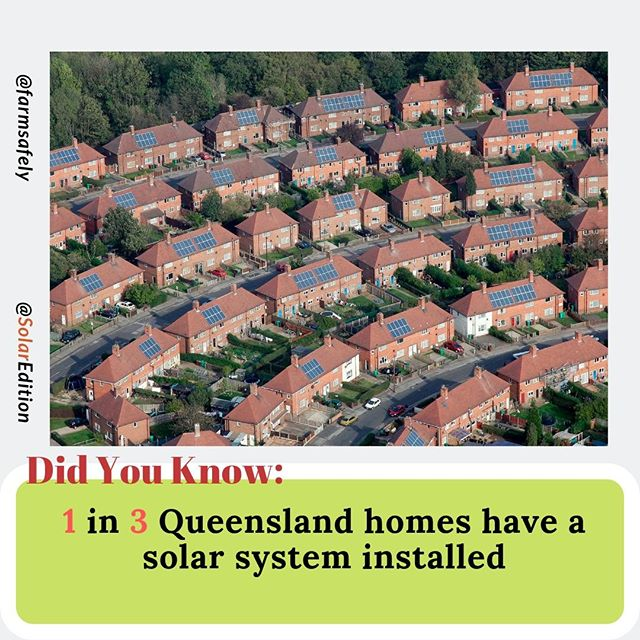 Did You Know: 1 in 3 Queensland homes have a solar system installed