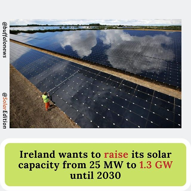 Ireland wants to raise its solar capacity from 25 MW to 1300 MW until 2030