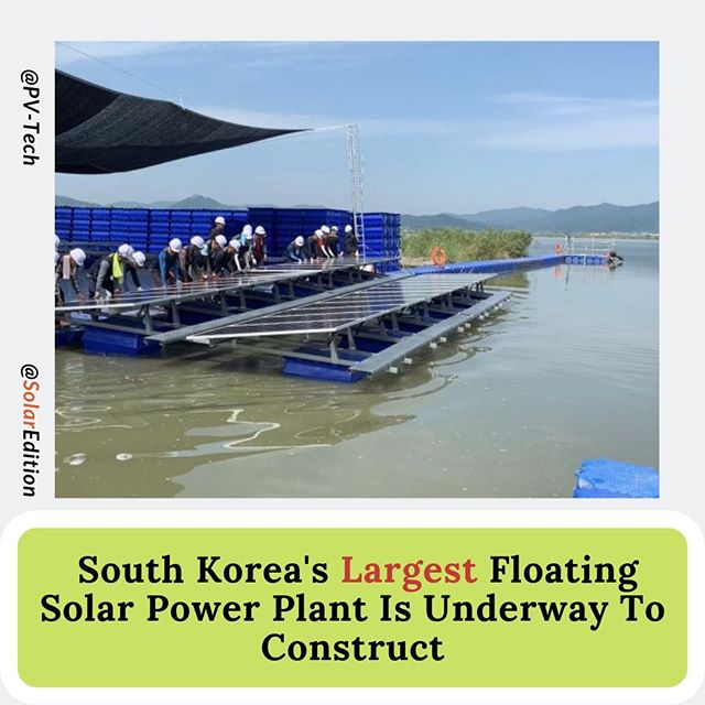 South Korea's Largest Floating Solar Power Plant Is Underway To Construct