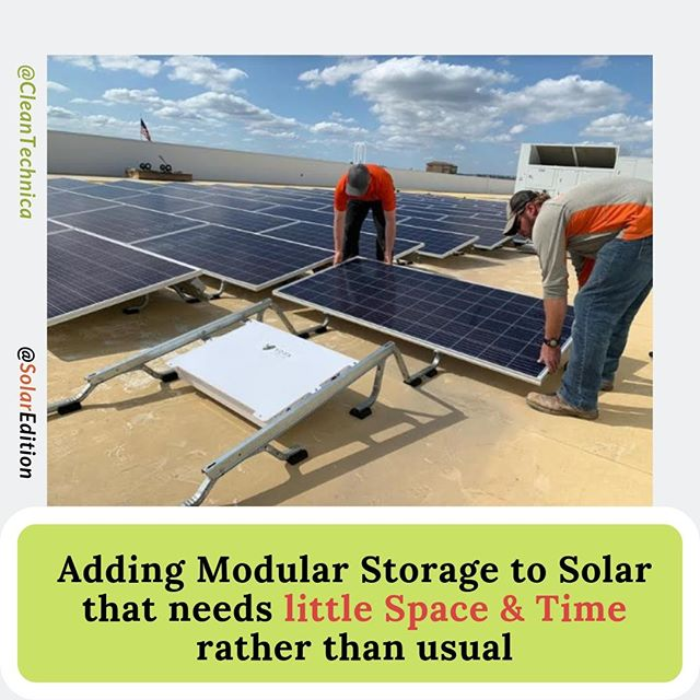 Adding Modular Storage To Solar that needs little space & time rather than usual