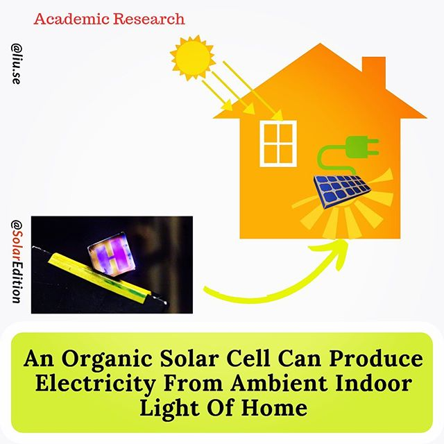 An Organic Solar Cell Can Produce Electricity From Ambient Indoor Light of Home