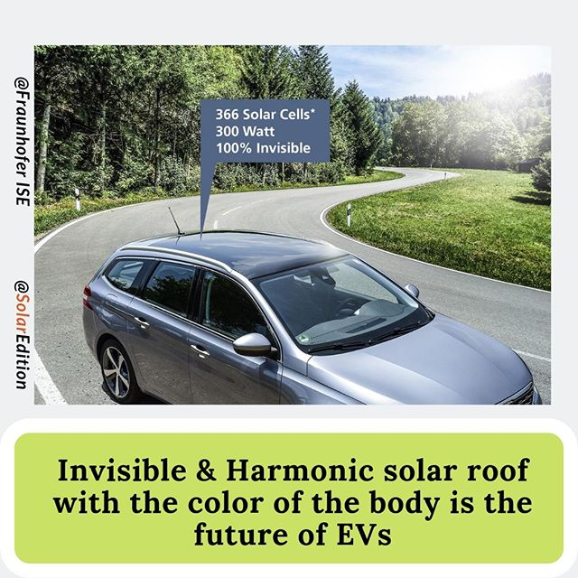 Invisible & Harmonic solar roof with the color of the body is the future of EVs