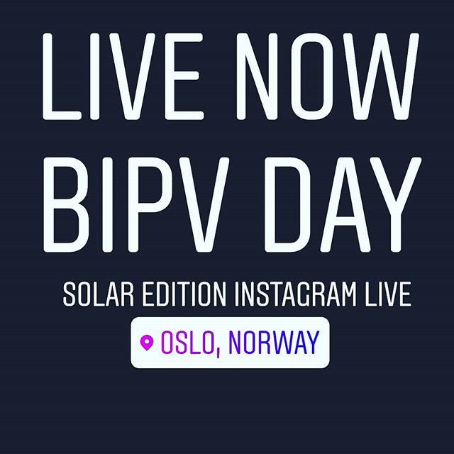 See BIPV DAY 2019, live on our Instagram #bipv #solar #gosolar #solarpanel #pv #norway #oslo #solenergiklyngen