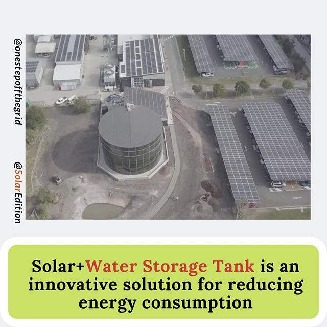 Solar +Water Storage Tank is an innovative solution for reducing energy consumption