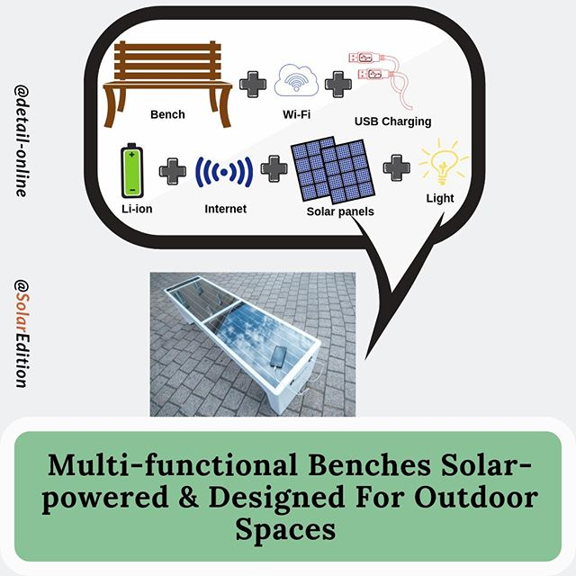 Multi-functional Smart Benches Solar-powered & Designed For Outdoor Spaces