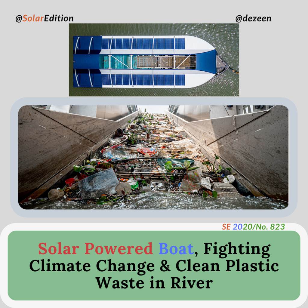 Plastic Waste Cleaner, Solar-powered-Boat