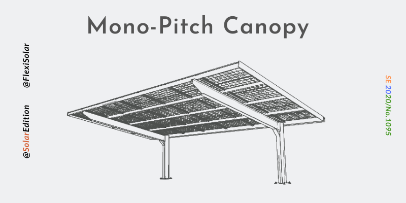 Fig 1: Mono-Pitch Solar Canopy
