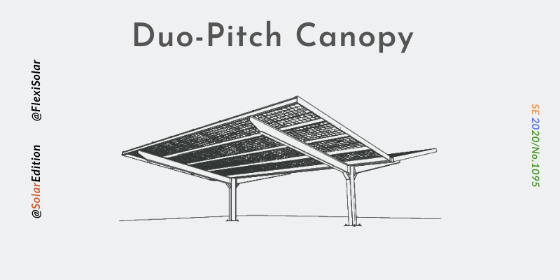 Fig 2: Duo-Pitch Solar Canopy
