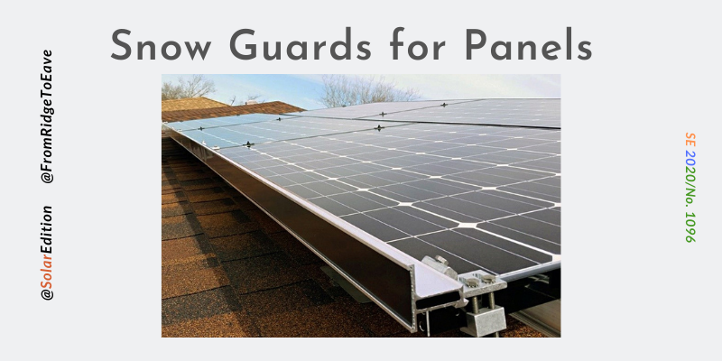 Fig 2: Snow Guards for Panels