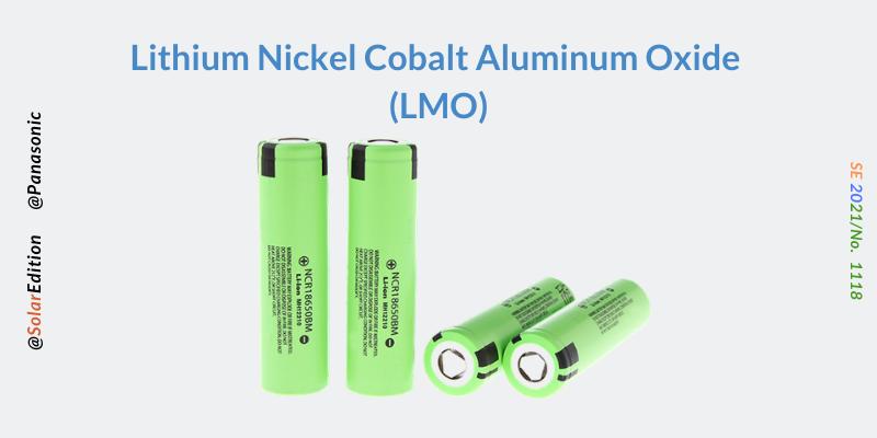Fig 3: Lithium Nickel Cobalt Aluminium Oxide Batteries
