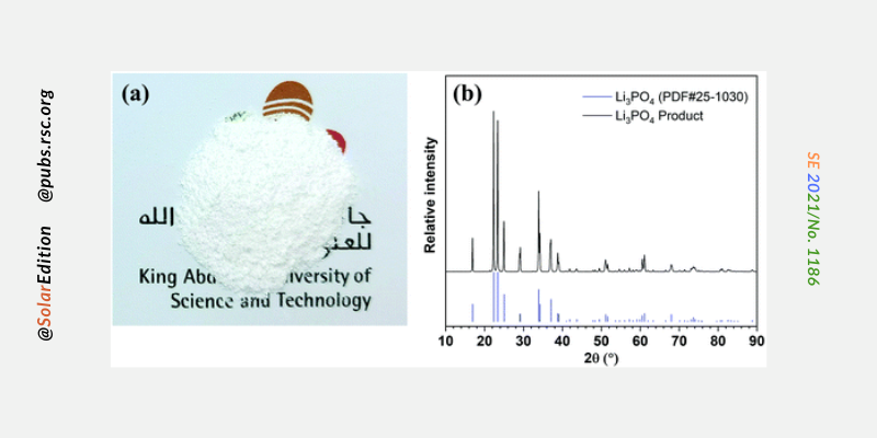 Fig.2: Lithium phosphate powder obtained from the test done on the device
